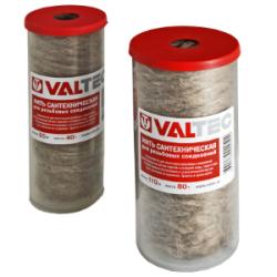 Нить сантехническая льняная VALTEC, для резьбовых соединений (55м)