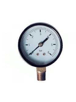Манометр TIM радиальный 6 бар  (Y-50-6bar)