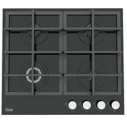 Газовая варочная панель SVAR GG4_750229F-ТС-078 S Ultra (черный, закаленное стекло)